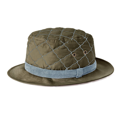 Quilted Bucket Hat (Olive Green)