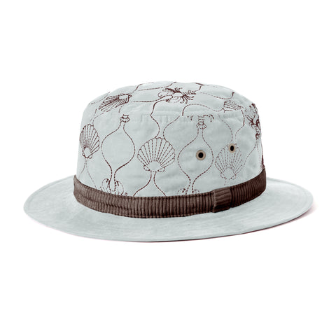 Quilted Bucket Hat (Powder Blue)