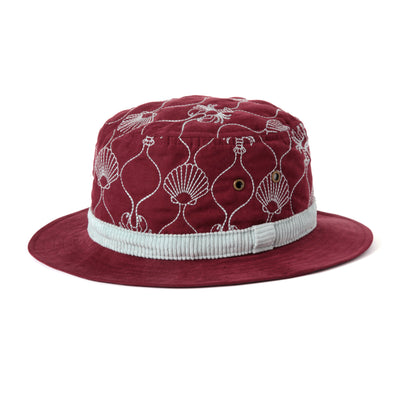 Quilted Bucket Hat (Maroon)