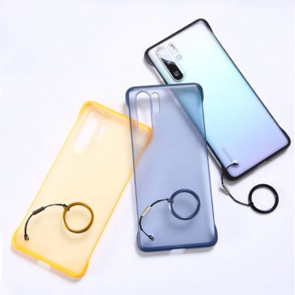 Samsung Galaxy A50/A50s/A30s Ultra Slim Premium Frameless Transparent Hard Case (With Free Metal Ring)
