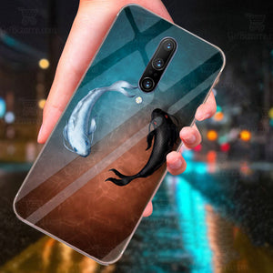 OnePlus 7 Pro Ultra Slim Toughened Yin Yang Good Luck Glass Case