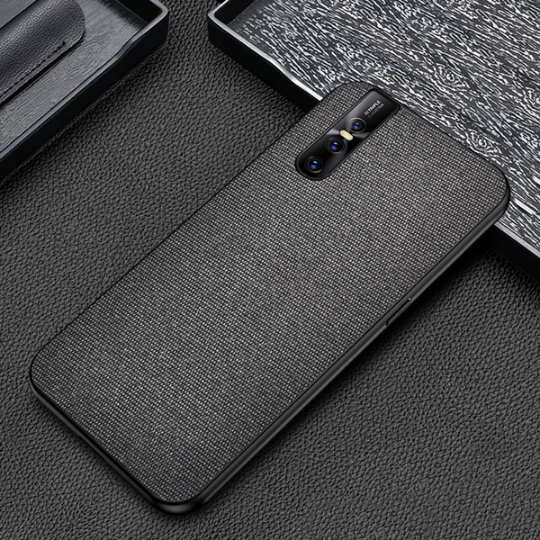 Vivo V15 Pro Ultra Slim Suede Fabric TPU Cloth Case