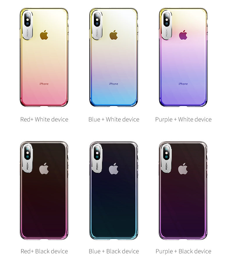 Apple iPhone Xs MAX Luxurious Gradient Color Dirt Resistant Transparent Hard Back Cover