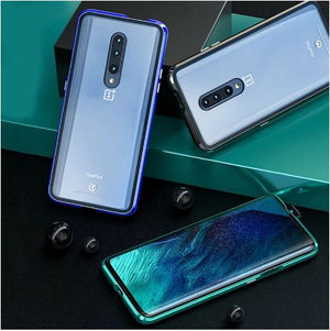 OnePlus 7 Pro Magnetic Auto-Fit Aluminium Armoured Toughened Glass Case