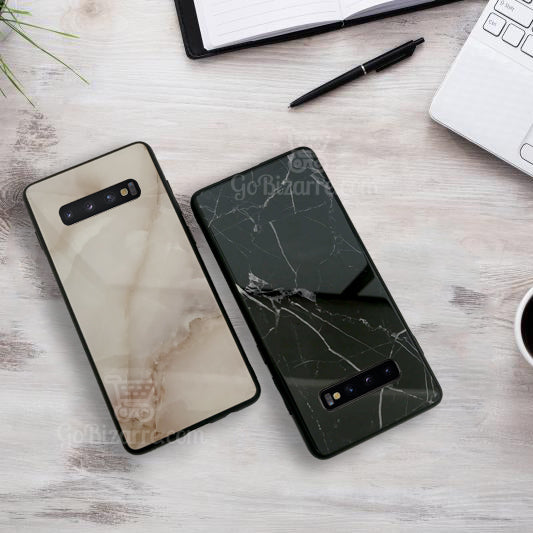 Samsung Galaxy S10 Plus Ultra Slim Toughened Italian Marble Glass Back Case