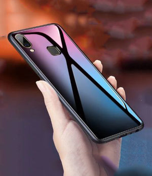 Samsung Galaxy A30 Toughened 5D Back Glass Wireless Edition Ultra Slim Case