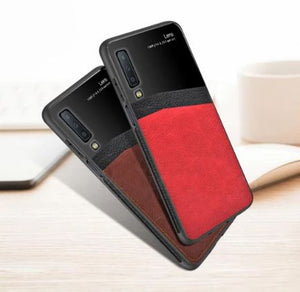 Samsung Galaxy A50/A50s/A30s Luxurious Design Half Glass Leather Shockproof Ultra Slim Hard Case