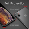 Apple iPhone X/Xs Ultra Slim Premium Frameless Transparent Hard Case (With Free Metal Ring)