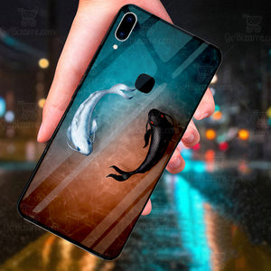 Samsung Galaxy A30 Ultra Slim Toughened Yin Yang Good Luck Glass Case