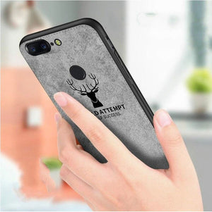 OnePlus 5T Ultra Slim Suede Fabric TPU Cloth Case
