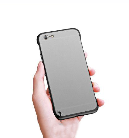 Apple iPhone 6/6S Ultra Slim Premium Frameless Transparent Hard Case (With Free Metal Ring)