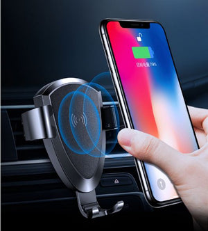TOTU CACW-013 Wireless Car Smartphone Charger for Apple, Samsung and Other QI-Enabled Devices