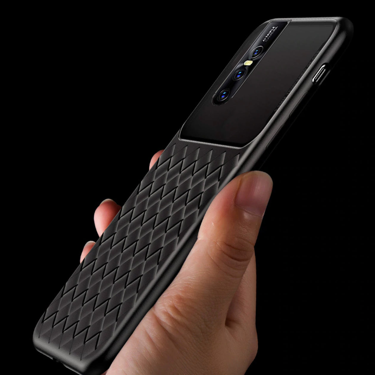 VIVO V15 Pro Weave Glass Series Ultra-Thin TPU Back Cover