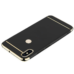 Redmi Note 6 Pro Luxurious Electroplated 3 in 1 Hard Back Case