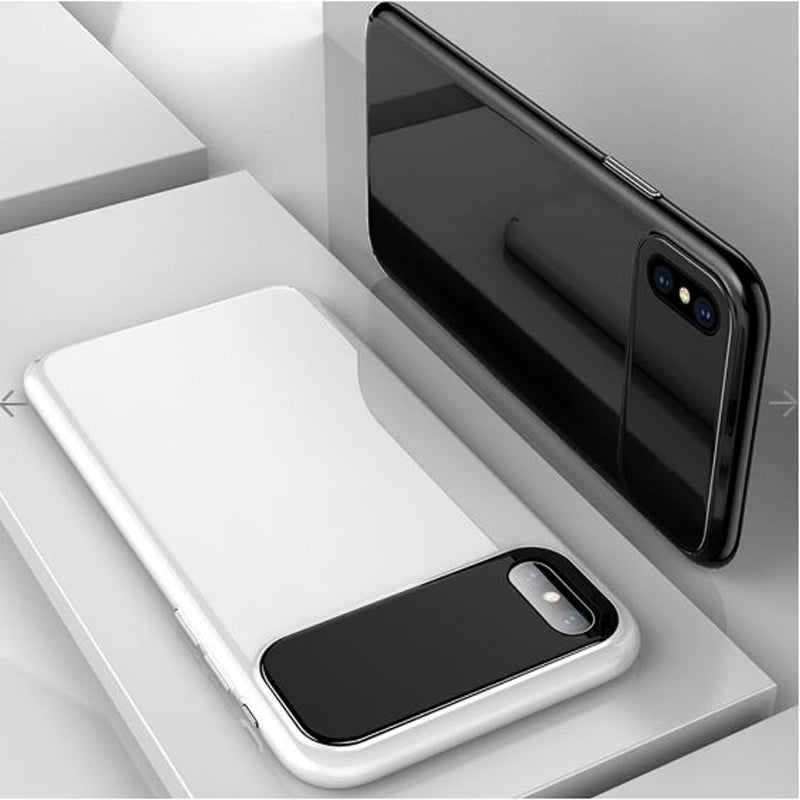 iPhone X/Xs Luxurious Design Half Glass Shockproof Ultra Slim Hard Case