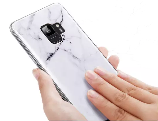 Samsung Galaxy A6 Plus Ultra Slim Toughened Italian Marble Glass Back Case