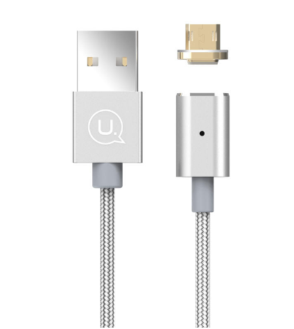 Usams Hi Speed Metal Magnetic Data Cable Unbreakable Charging & Data Cable for Samsung , Xiaomi , Vivo & Oppo