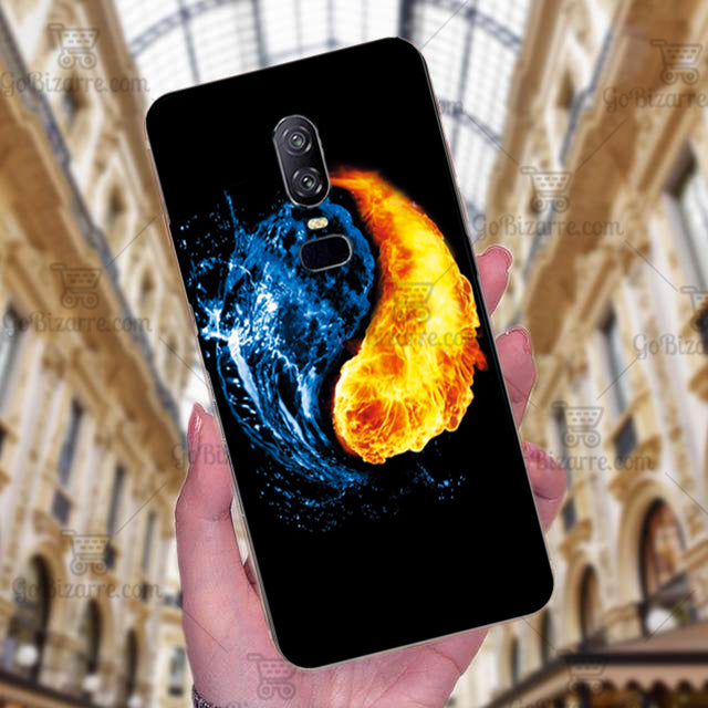 OnePlus 6 Ultra Slim Toughened Yin Yang Good Luck Glass Case