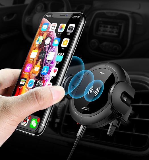 TOTU CACW-027 Wireless Car Smartphone Charger for Apple, Samsung and Other QI-Enabled Devices