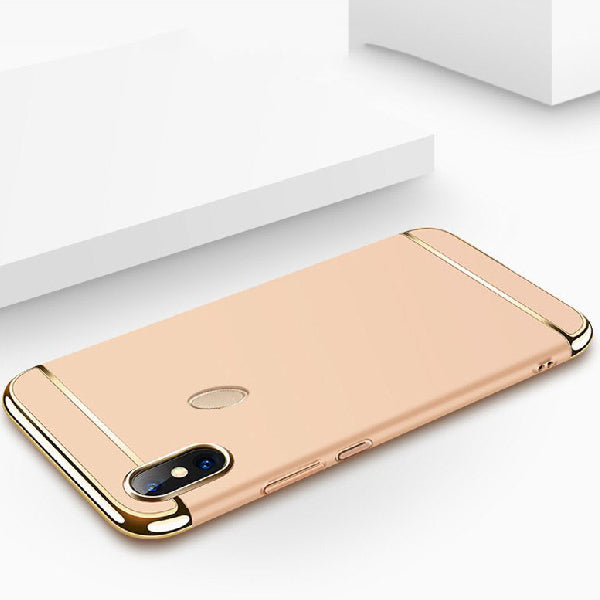 Redmi Note 5 Pro Luxurious Electroplated 3 in 1 Hard Back Case