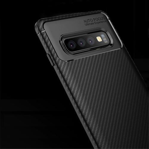 Samsung Galaxy S10 Plus Genuine Carbon Fiber Autofocus Protective Shock Proof Ultra-thin Case
