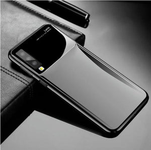 Samsung Galaxy A7 (2018) Plus Luxurious Design Half Glass Shockproof Ultra Slim Hard Case