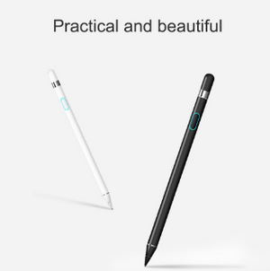 WIWU Stylus Pen for all Apple iPad/iPhone/iPad Pro/iPhone X, Android Active Stylus Rechargeable Fine Tip Stylus Specially Designed For Capacitive Touchscreen Phones & Tablets (White/Black)