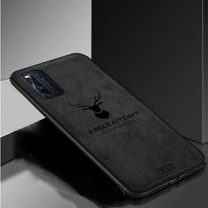 VIVO V19 Ultra Slim Suede Fabric TPU Cloth Case