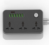 Multipurpose 6 Port USB & 3 Power Socket Charging Station W/Overload Protection for All Gadgets