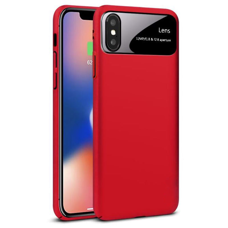 iPhone Xs Max Luxurious Design Half-Glass Shockproof Ultra Slim Hard Case