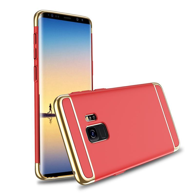 Samsung Galaxy S9 Luxurious Electroplated 3 in 1 Hard Back Case