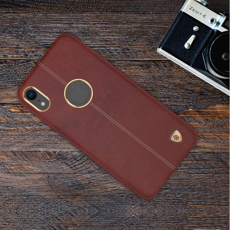 Apple iPhone XR Vorson Luxurious Genuine Leather PU Hard Back Case