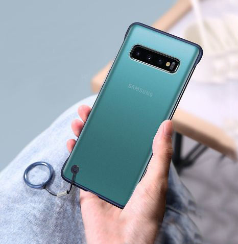 Samsung Galaxy S10 Plus Ultra Slim Premium Frameless Transparent Hard Case (With Free Metal Ring)