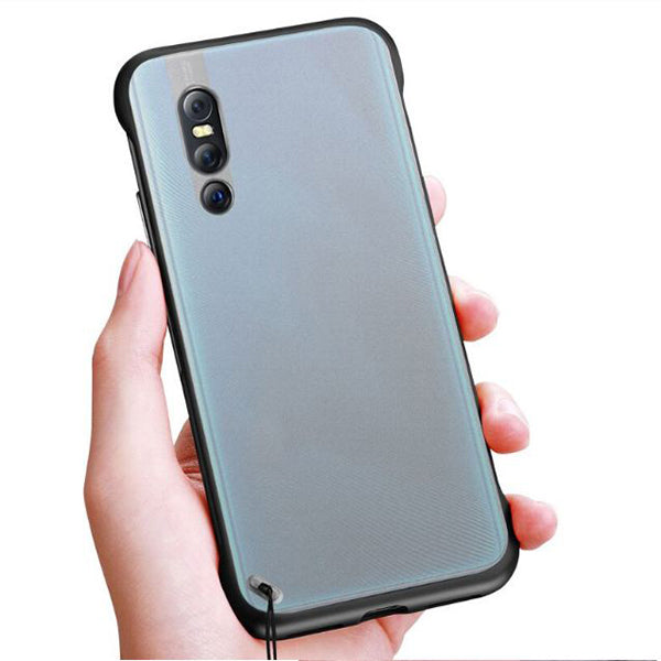 VIVO V15 Pro Ultra Slim Premium Frameless Transparent Hard Case (With Free Metal Ring)