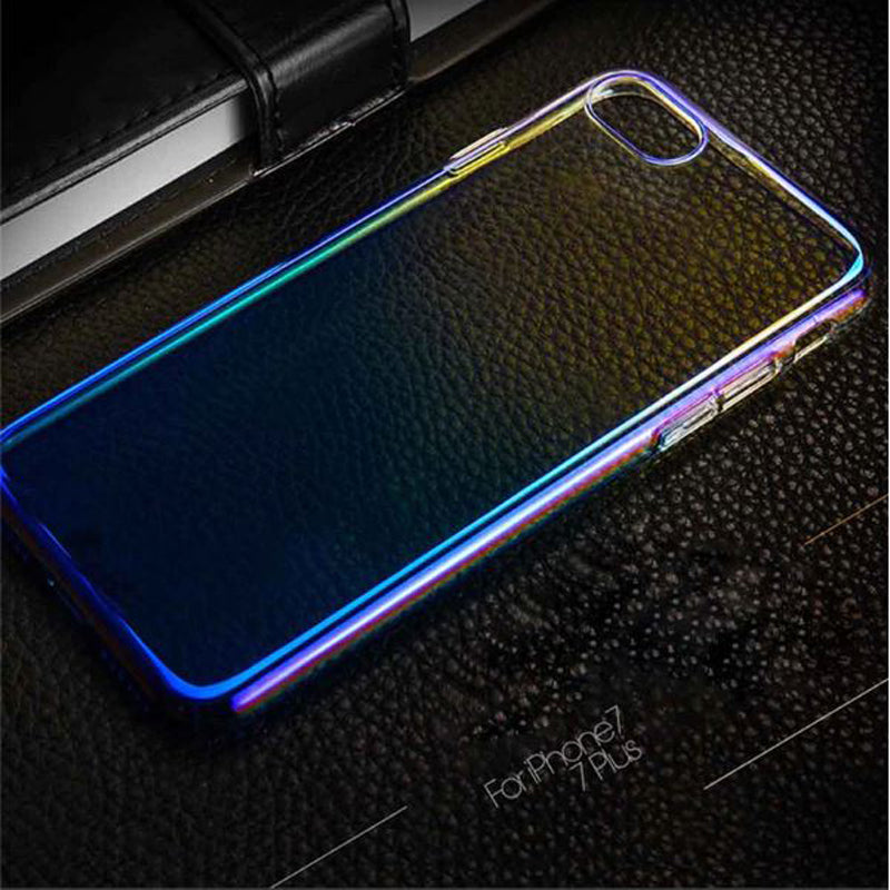 Apple iPhone 7 & iPhone 8 Gradient Color Dirt-Resistant Transparent Hard Back Cover