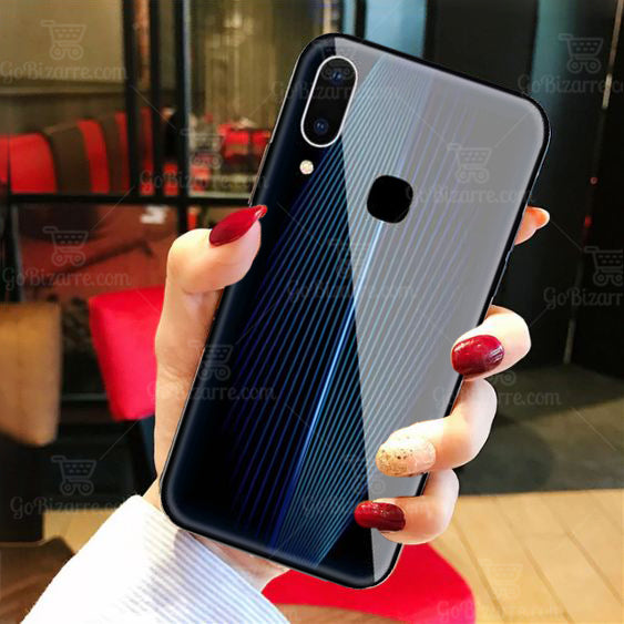 VIVO Y93 Electric Wave Design Toughened Glass Hard Case