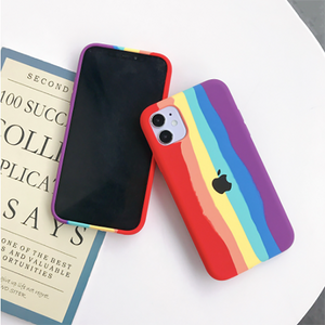 Apple iPhone 11 Pro Rainbow Series Genuine Liquid Silicone Logo Case