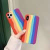 Apple iPhone X/Xs Rainbow Series Genuine Liquid Silicone Logo Case