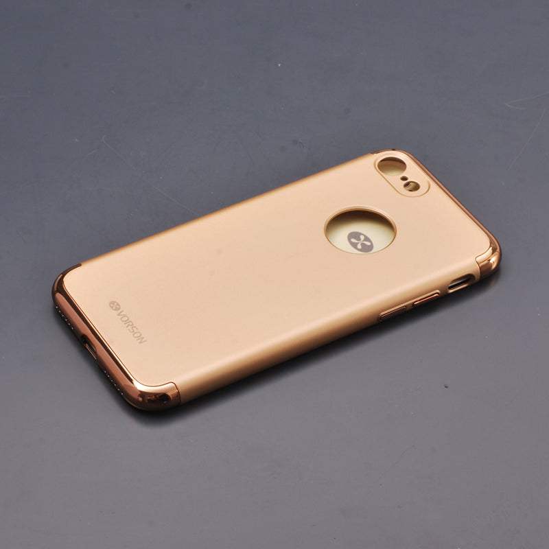 Apple iPhone 7 & 8 Luxurious Electroplated 3 in 1 Hard Protective Case