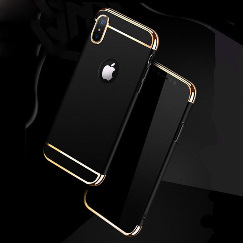 Apple iPhone X Henks Luxurious Electroplated 3 in 1 Hard Back Case