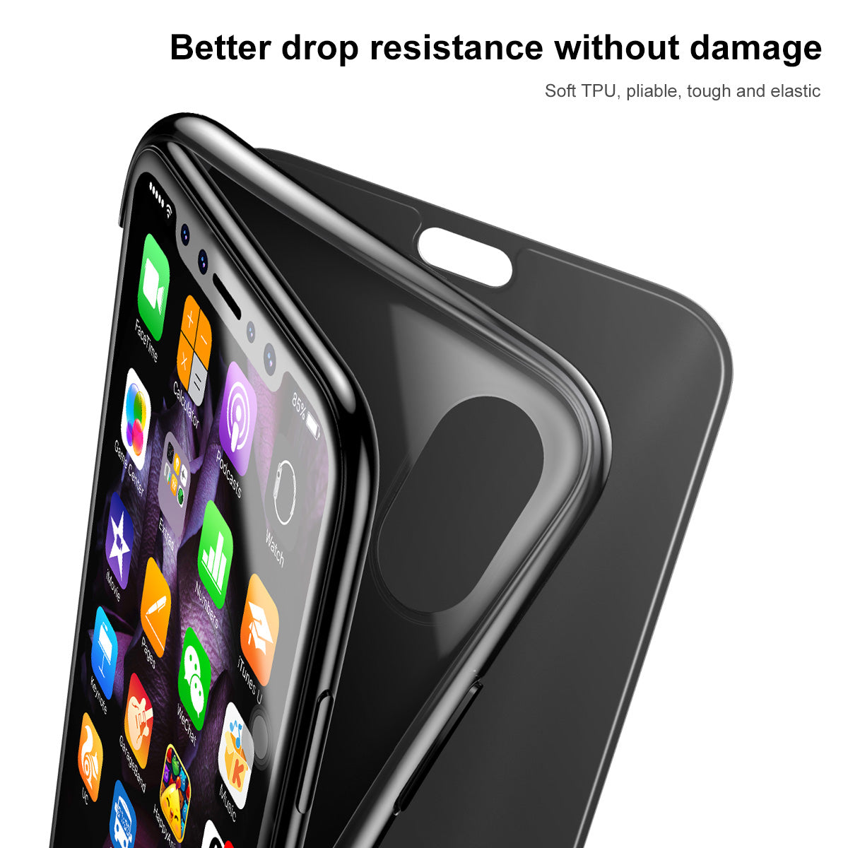 Apple iPhone X/Xs Luxurious Touchable Tempered Glass Ultra Slim Flip Case