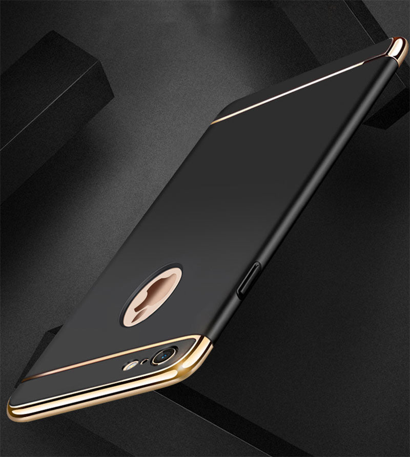 Apple iPhone 7/8 Plus Luxurious Electroplated 3 in 1 Hard Back Case