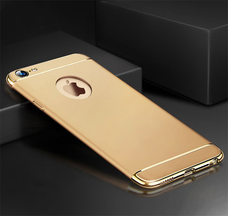 Apple iPhone 7/8 Luxurious Electroplated 3 in 1 Hard Back Case