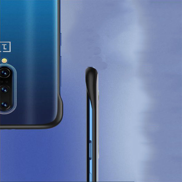 OnePlus 7 Pro Ultra Slim Premium Frameless Transparent Hard Case (With Free Metal Ring)