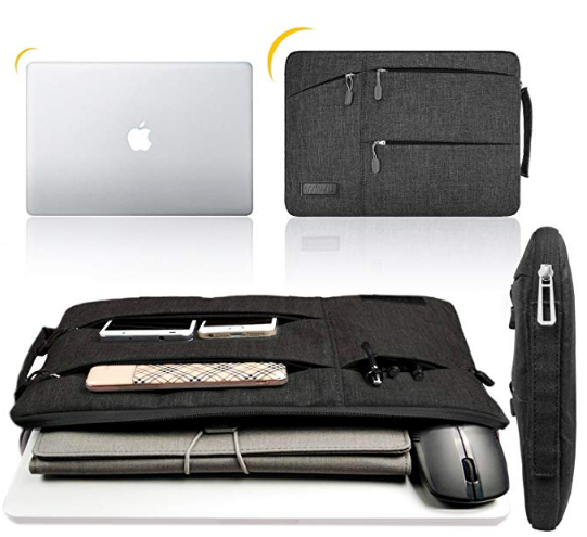 WIWU Protective Sleeve Case Cover with Handles and Accessory Compartment and Shockproof Technology Best Suitable For 13-13.3 Inches MacBook Air/ MacBook Pro/ 12.9 Inch iPad Pro, Fits All 13 Inches Laptop Bags