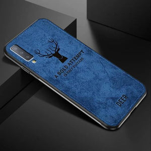 VIVO S1 Ultra Slim Suede Fabric TPU Deer Case