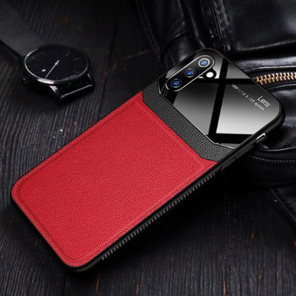 Samsung Galaxy Note 10 Luxurious Design Half Glass Leather Ultra Slim Hard Case