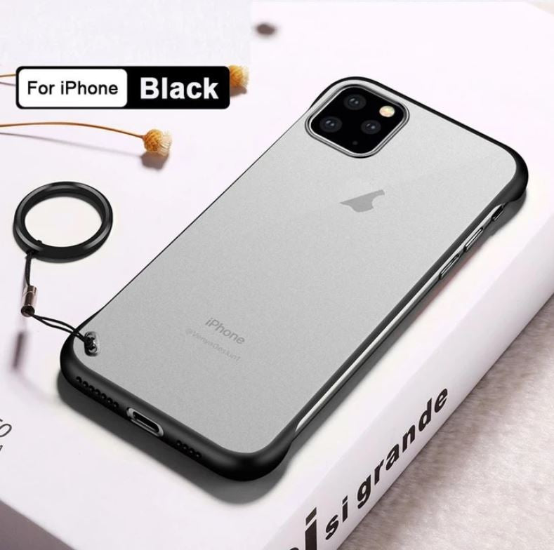 Apple iPhone 11 Pro Ultra Slim Premium Frameless Transparent Hard Case (with Free Metal Ring)