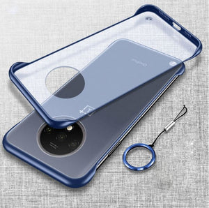 OnePlus 7T Ultra Slim Premium Frameless Transparent Hard Case (with Free Metal Ring)