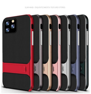 Apple iPhone 11 Pro Luxurious Kickstand Full Protection Matte Hybrid Shell